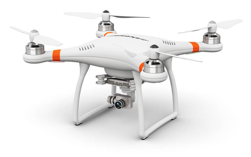 bilde av drone med kamera
